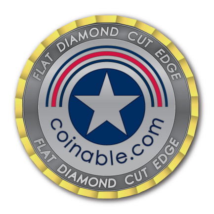 Flat Diamond Cut Edge - Challenge Coin - After Plating