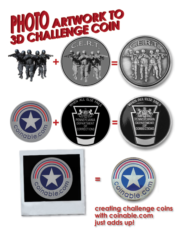 Challenge Coins made from a photograph